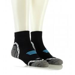 Kolesarske nogavice - BIKING 3D SPORT (črne z modrim vzorcem)