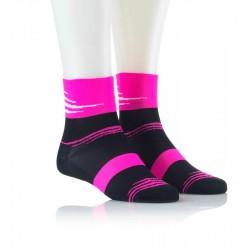 Specialne kolesarske nogavice črno roza
