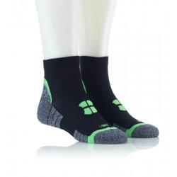 Tekaška nogavica črna zelena