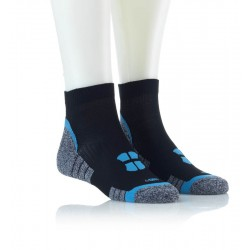Tekaška nogavica črna modra