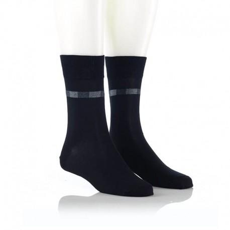 Elegantne nogavice z vzorcem - črne