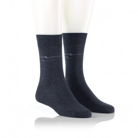 Elegantne nogavice z vzorcem - sive