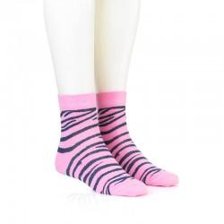 Modne nogavice - zebra jins pinki
