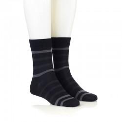 Modne nogavice - črne t. sive in 2 sv. sivi črti