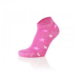 Otroške stopalke pinki rožice (2 para v paketu)