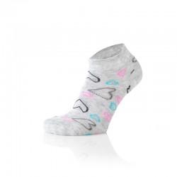 Otroške stopalke srčki sivi (2 para v paketu)