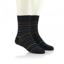 Modne nogavice - črte oranžna, modra, zelena