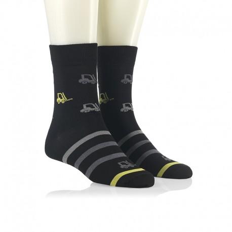Modne nogavice - viličarji rumeni in sivi
