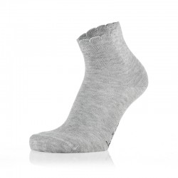 Otroške sive nogavičke z volančki (2 para v paketu)