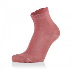 Otroške roza nogavičke z volančki (2 para v paketu)