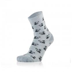 Otroške nogavice - mačke na svetlo modri podlagi (2 para v paketu)