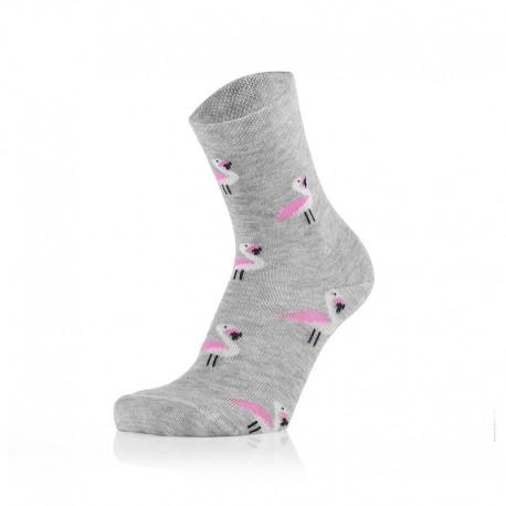 Otroške nogavice - pinki flamingo (2 para v paketu)
