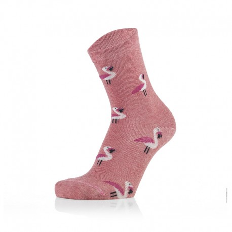 Otroške nogavice - svetlo roza flamingo (2 para v paketu)