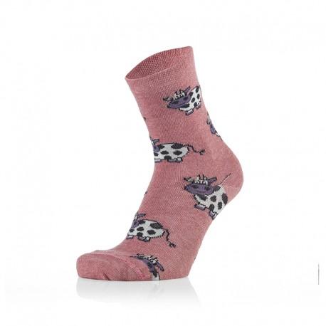 Otroške nogavice - kravice roza (2 para v paketu)