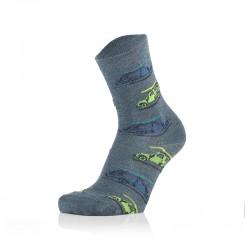 Otroške nogavice - avtomobili na jins podlagi (2 para v paketu)