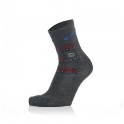 Otroške nogavice - gasilci na antracit podlagi (2 para v paketu)
