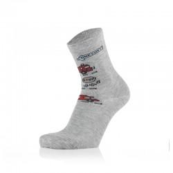Otroške nogavice - gasilci na sivi podlagi (2 para v paketu)