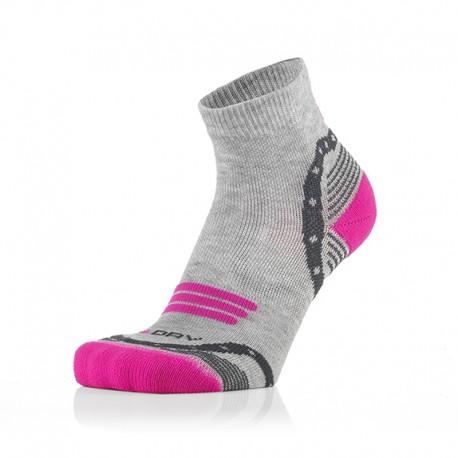Otroške 3/4 športne nogavice sivo pinki