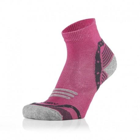 Otroške 3/4 športne nogavice pinki sive